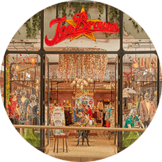 Joe Browns Retail Stores page