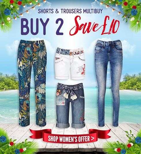 Women's Shorts and Trousers Multibuy