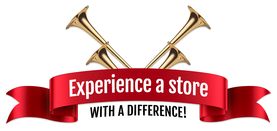 Experience a store with a difference!