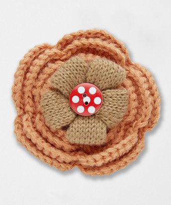 Crochet Flower Pin Joes Outlet Ladies Outlet Accessories And Jewellery