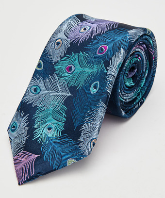 dbaae1b15232 Peacock Feather Premium Silk Tie, Men, Mens Accessories and Jewellery